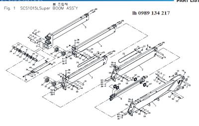 Đốt cần, xylanh ra vào cần của Cẩu soosan 10 tấn SCS1015-SCS1024