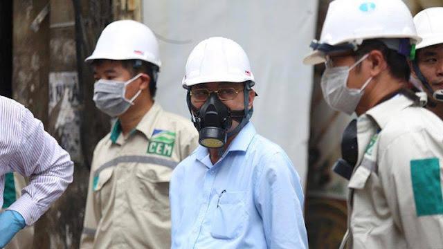 Mặt nạ chống độc dành cho quan chức, dân đeo khẩu trang 10 ngàn một hộp phòng hơi Thủy Ngân