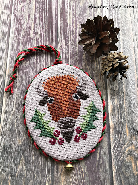 Christmas Ornaments 2020 Just Cross Stitch вышивка holly jolly buffalo