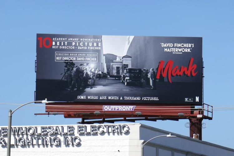 Mank Oscar nominee billboard