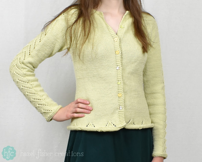 Making my own Clothes - Drops Design Knitted Cardigan - Hazel Fisher Creations