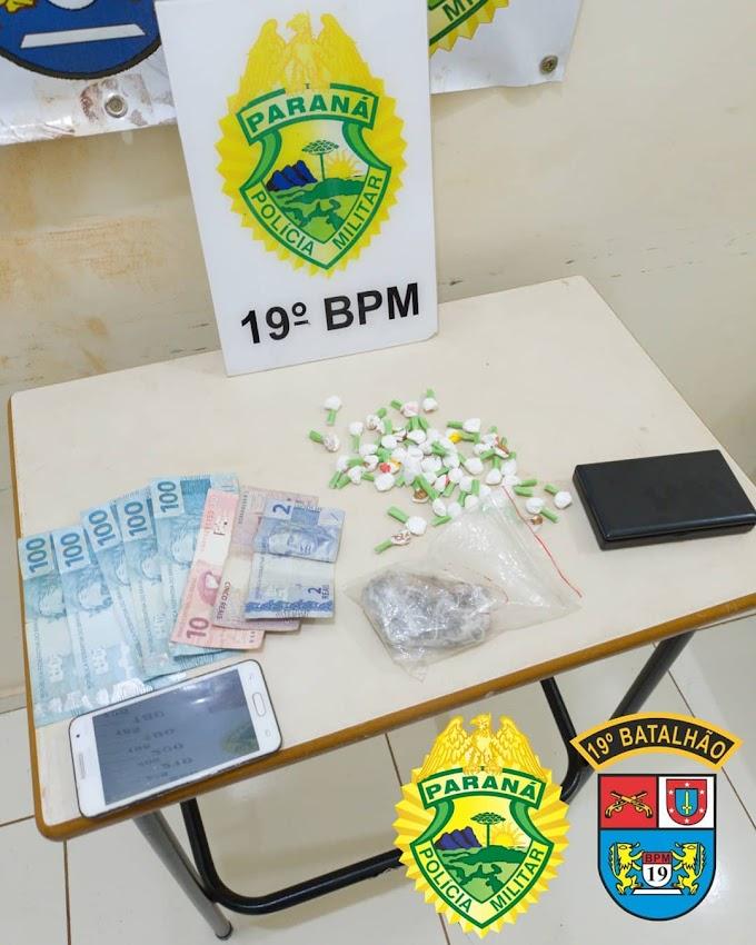 Individuo é preso por tráfico de drogas no Panorama II