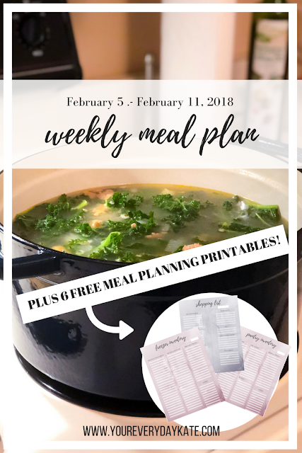 weekly meal plan pin free organization tool