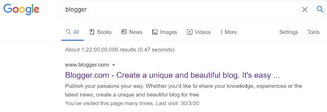 Visit blogger.com