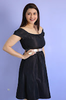 Mannara Chopra in Short Off Shoulder Black Dress ~  Exclusive 020.JPG