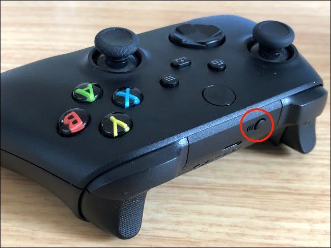 زر إقران وحدة تحكم Xbox