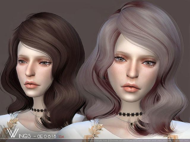 Женские прически средней длинны для The Sims 4 со ссылками на скачивание