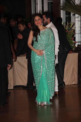 Actress Kareena Kapoor Green Saree Photos | Telugu songs ...