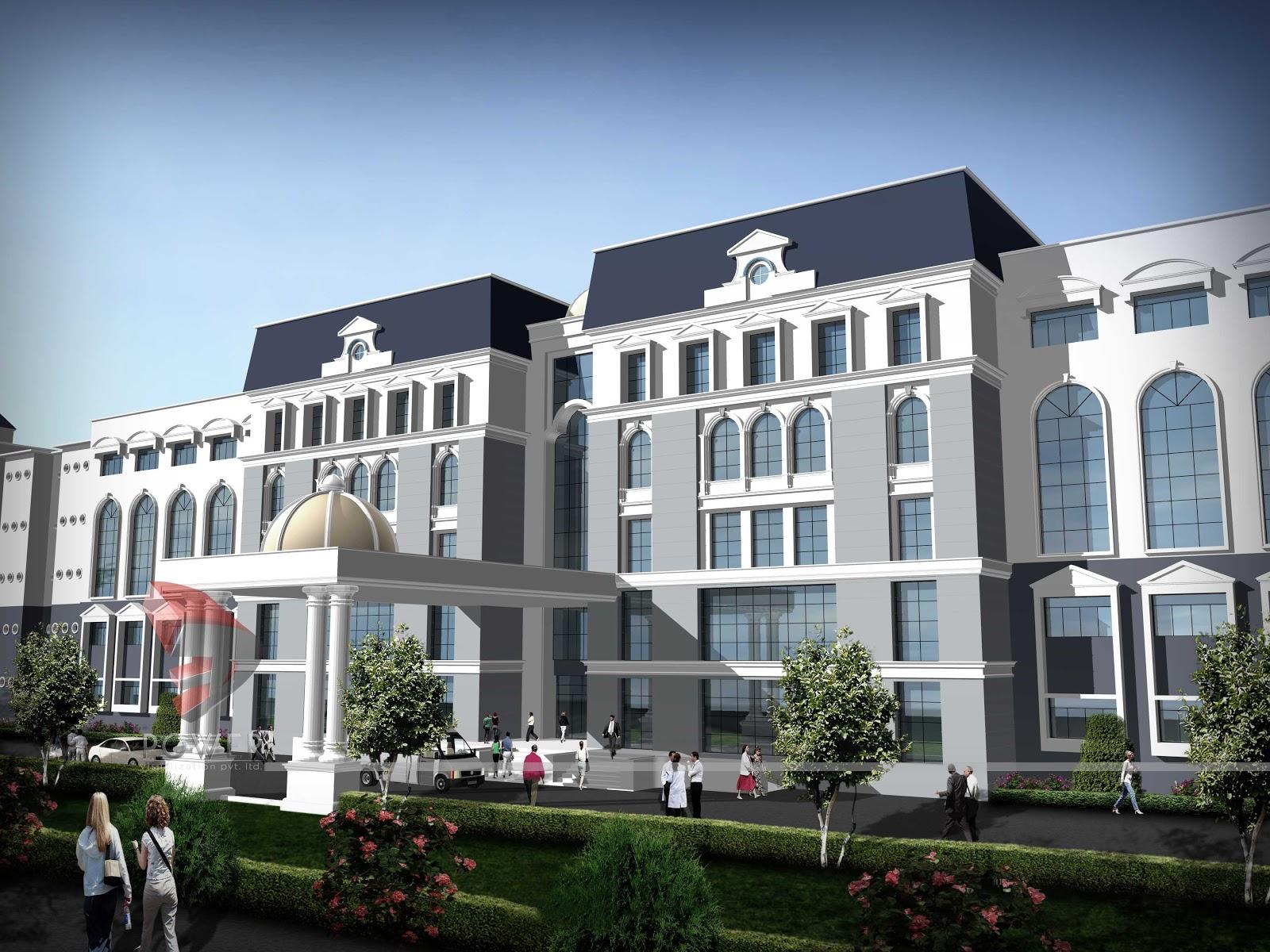 Architectural design hospital building
