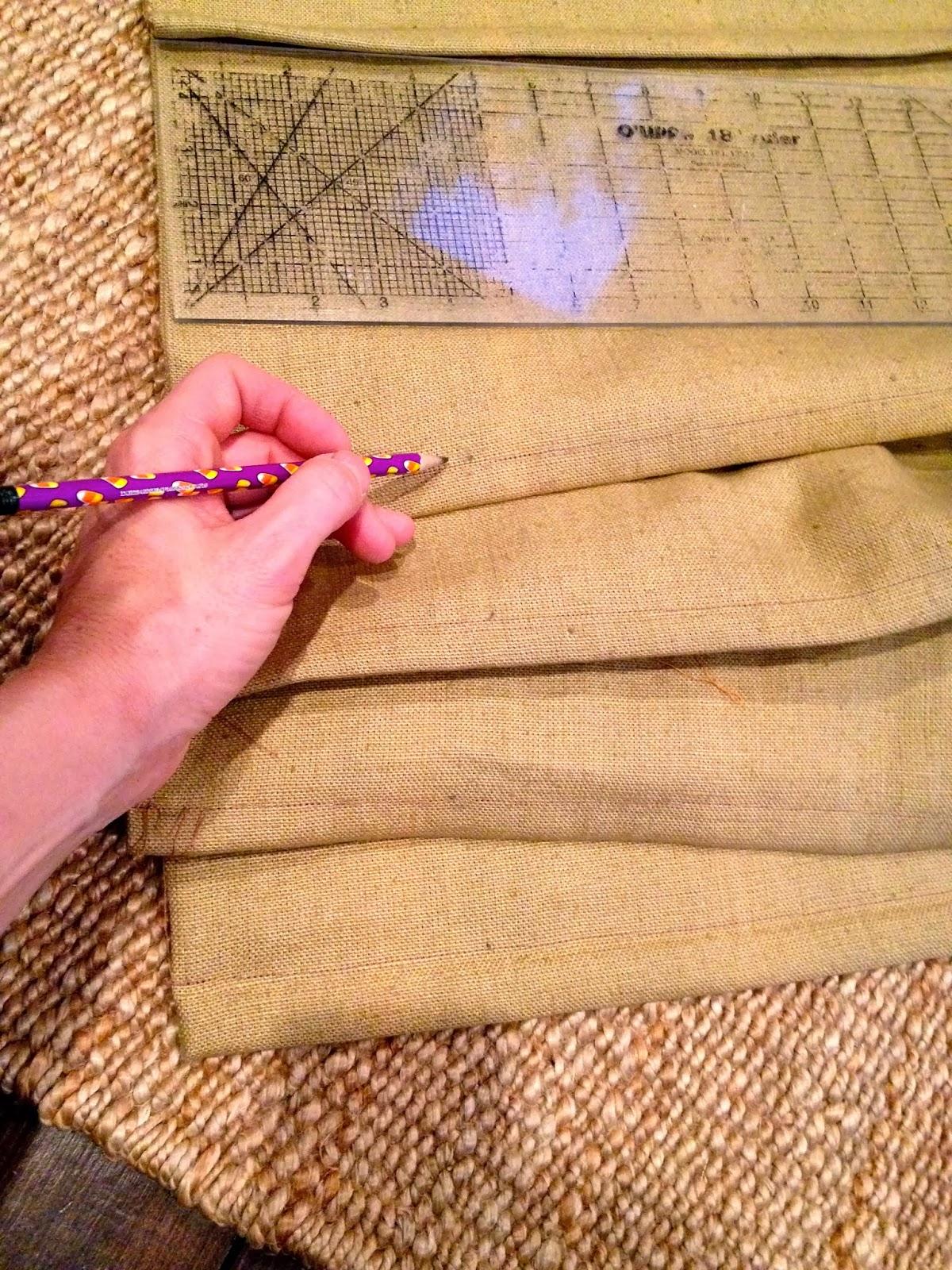 mark back side for string