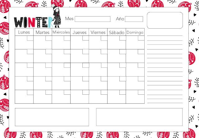calendario, descargar, gratis, horizontal, a4, pdf, imprimir