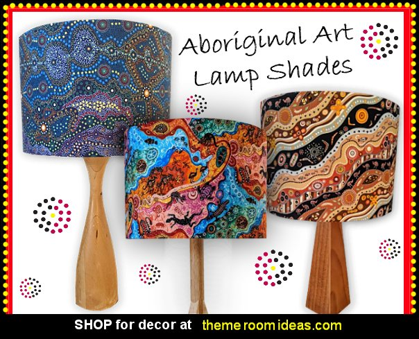 Aboriginal art lamp shades aboriginal art australian themed bedroom decor australian bedroom ideas