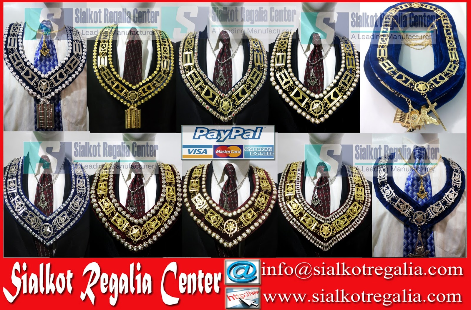 Masonic Regalia Chain Collar Masonic Scottish Rite 30 – Desenhos
