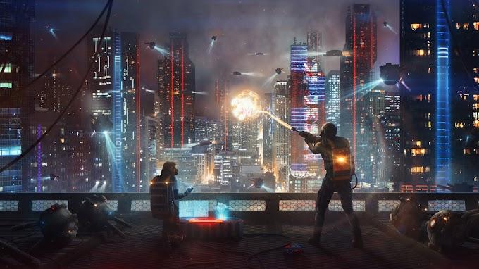 Guerra Cidade Cyberpunk