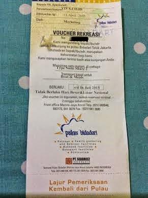 Hadiah Voucer Rekreasi Dari Ngeblog