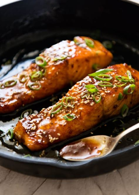 Honey Garlic Salmon #recipes #dinnerrecipes #deliciousdinnerrecipes #fastdeliciousdinnerrecipes #food #foodporn #healthy #yummy #instafood #foodie #delicious #dinner #breakfast #dessert #lunch #vegan #cake #eatclean #homemade #diet #healthyfood #cleaneating #foodstagram