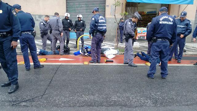 Guarda Civil Metropolitana e PM detém meliantes após saidinha de banco na região do Bom Retiro