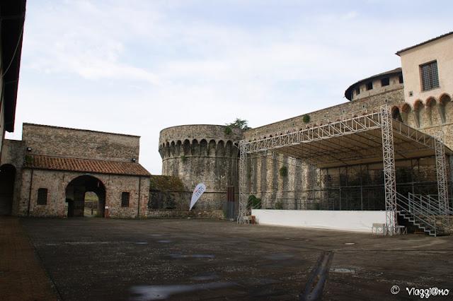 Il cortile interno della Fortezza Firmafede di Sarzana