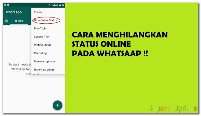Cara mematikan status online whatsapp