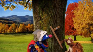 Super Grover 2.0 The Acorn, Super Grover helps a squirrel. Sesame Street Episode 4416 Baby Bear's New Sitter season 44