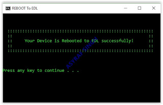 reboot to edl