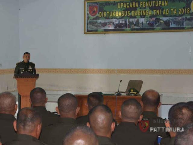58 Mantan Prajurit Siswa di Rindam Papua Sandang Pangkat Serda