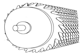 Roller with toothed discs