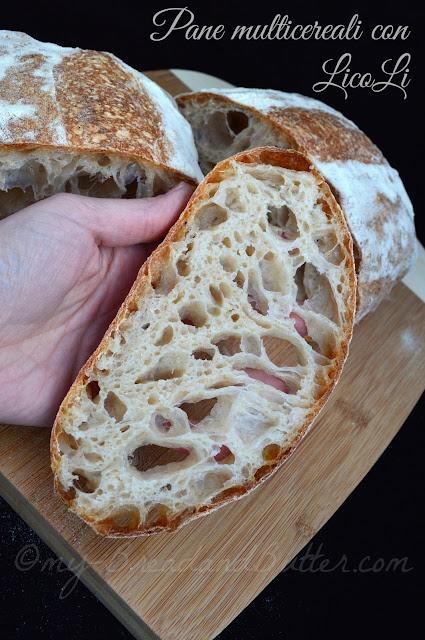 Pane con farina multicereali e lievito madre