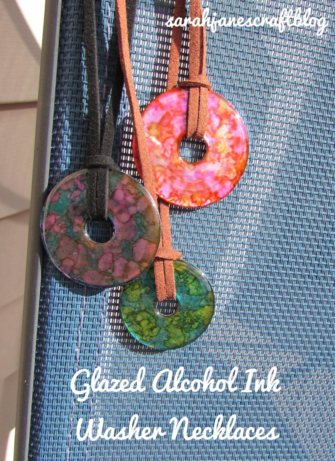 Sarah Jane S Craft Blog More Glazed Alcohol Ink Washers