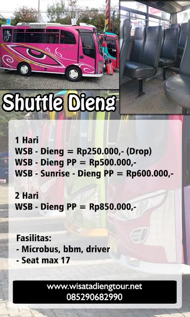 daftar harga shuttle dieng terbaru