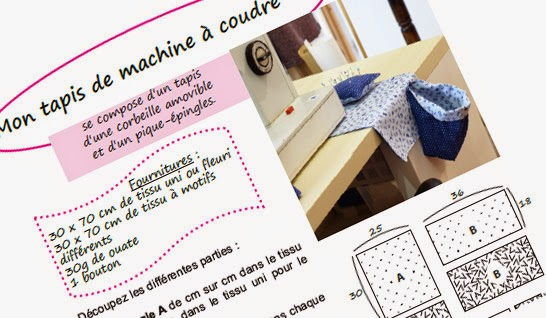 Super Christelle Beneytout : le blog: Petit tapis de machine à coudre  SR07