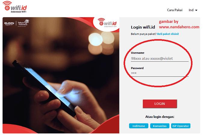 halaman login wifi id telkom