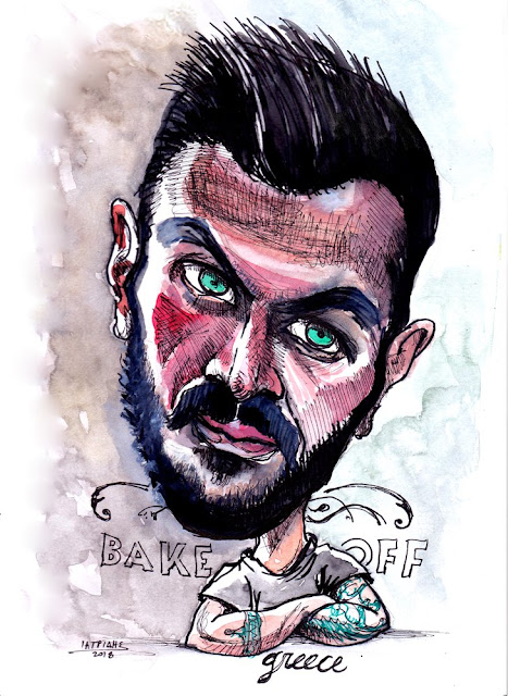 akis petretzikis kritis bake off greece alpha tv karikatura