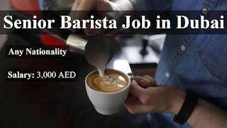Barista Job Recruitment in Dubai