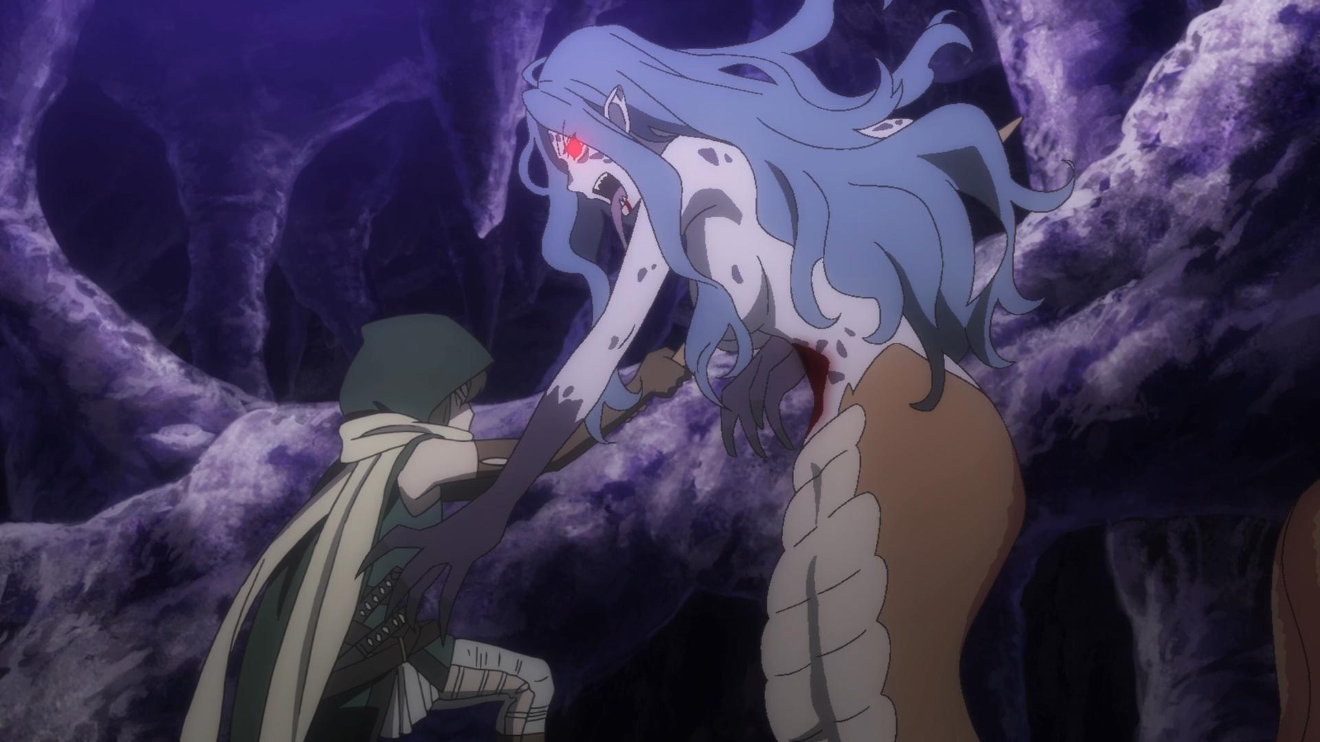 L'entrée du deuxième épisode nous présente un scénario de contrebande de monstres à travers la famille Ikelos.  Immédiatement, le chef de l'équipe d'aventuriers ordonne la recherche de ceux qui ont été liés au monstre parlant qu'il chassait auparavant dans les étages labyrinthiques du donjon.