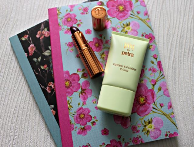 pixi beauty flawless and poreless primer review, charlotte tilbury lipstick