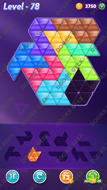 Block! Triangle Puzzle Proficient Level 78 Solution, Cheats, Walkthrough for Android, iPhone, iPad and iPod