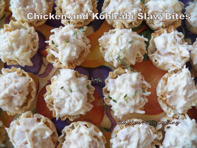 Chicken Kohlrabi Slaw Bites