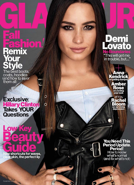 Actress, Singer, Model, @ Demi Lovato - Glamour Magazine November 2016.