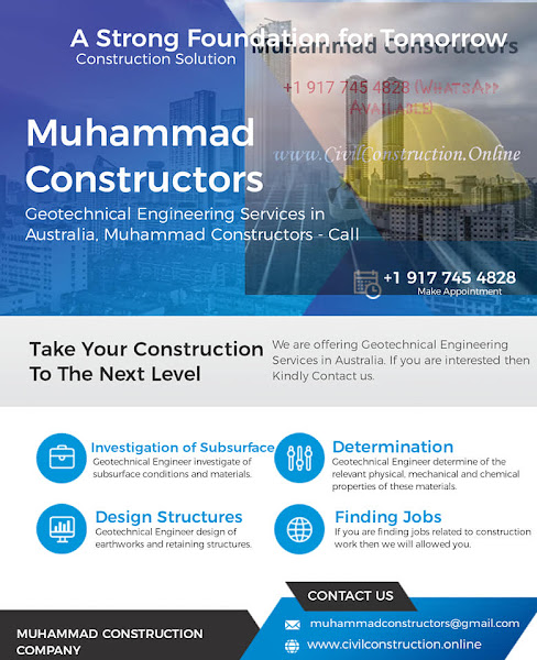 Geotechnical Engineering Services in Dandenong, Australia, Muhammad Constructors - Call +1 (917) 745-4828