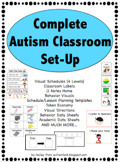 autism tank classroom set up visual schedules