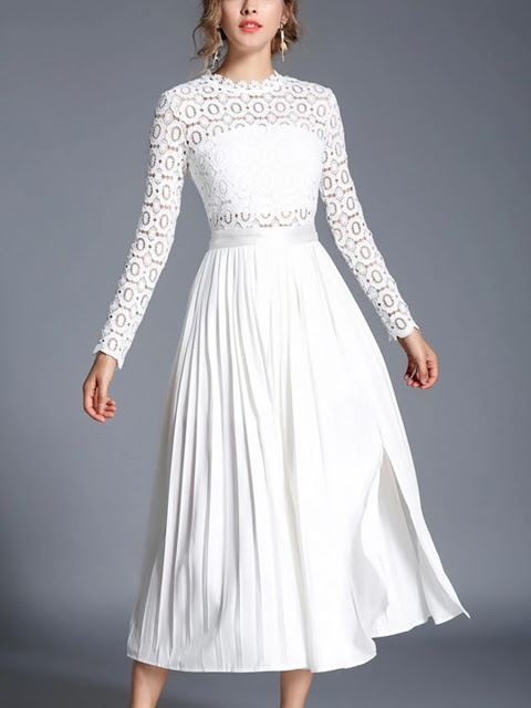 https://www.kis.net/collections/elegant-dresses/products/pleated-crochet-cutout-lace-panel-dress