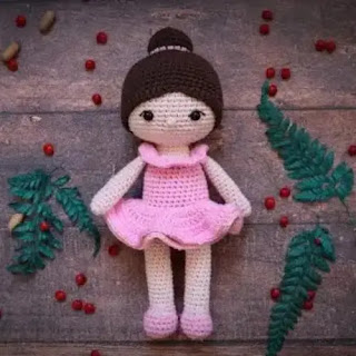 Amigurumi Bailarina a Crochet