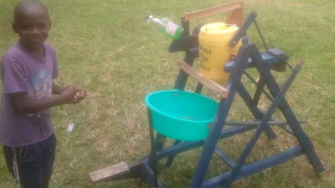 Coronavirus: Kenyan boy who made hand-washing machine awarded