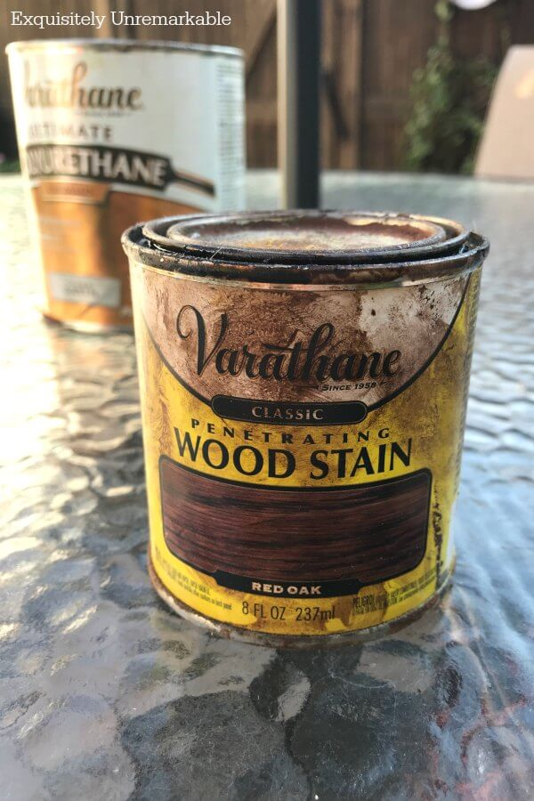 Varathane Red Oak Stain Can on table