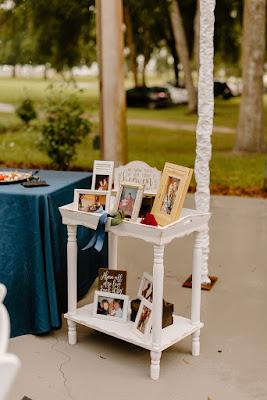 memorial photos display