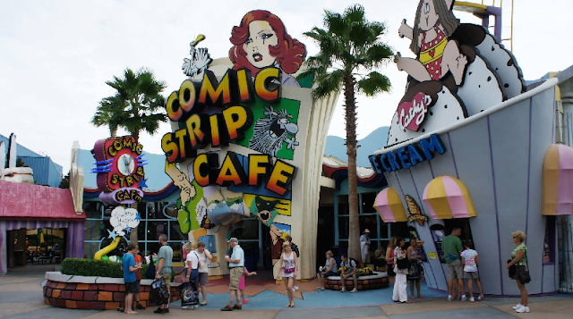 Restaurantes Toon Lagoon no Islands of Adventure em Orlando
