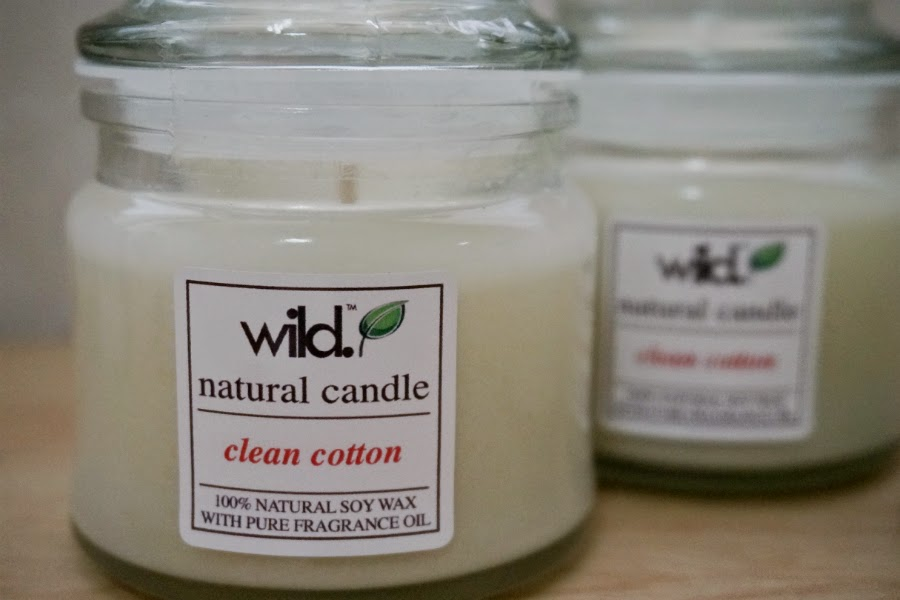 Wild Products Soy Candle in Clean Cotton