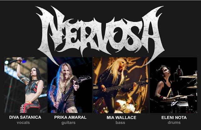 Nervosa anuncia nova formação, agora conta com 4 integrantes