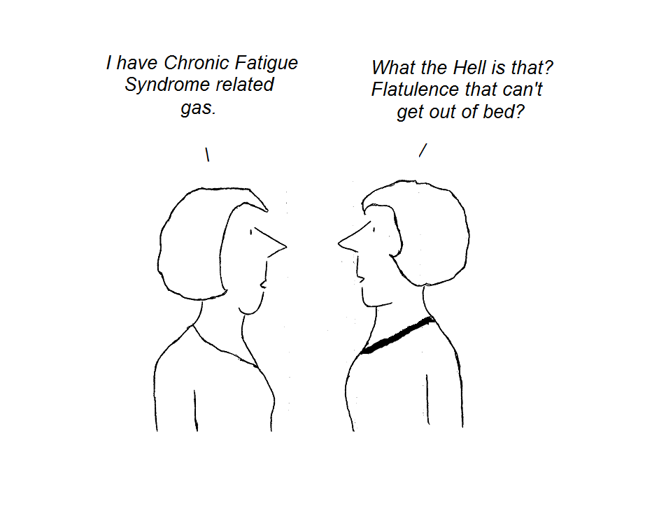 cartoon, irritable bowel syndrome, hhv-6, cfs, chronic fatigue syndrome